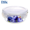 Food grade camping glass silicone container with high transparency