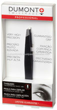 PROFESSIONAL COSMETIC EYEBROW BLACK SLANTED TWEEZERS
