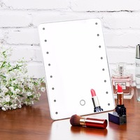 16 LED Battery Operated Cordless Touch Screen Lighted Vanity led Cosmetic Makeup Mirror