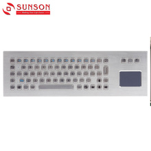 Oem High Quality Payment Kiosk Metal Keyboard With Touch Pad