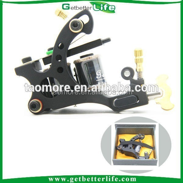 Getbetterlife High Quality Casting Shader 10Wraps Iron Air Tattoo Machine