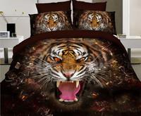 3d bedding set tiger design
