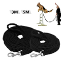 3M,5M Nylon spandex spring retractable dog training leash hand free