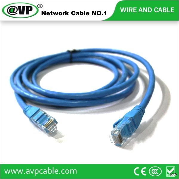 AVP different color length utp ftp Cat5e Cat6 patch cord RJ45 1m 2m