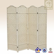 Pop up Ice cream 4 panel rattan room divider screen to divide home