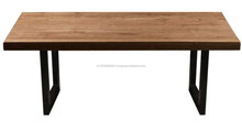 Wooden Top Folding Base Dinning Table