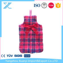 printed coral fleece cover for hot water bottle/bag