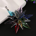 multi-color crystal glass snowflake for gift