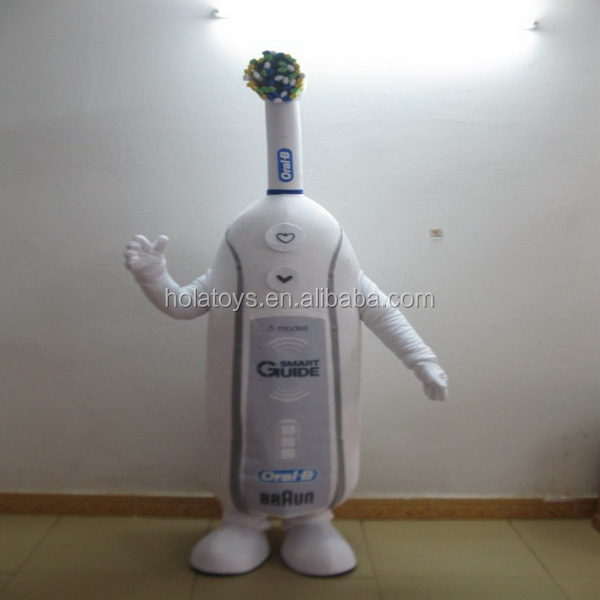 Hola advertising professional cartoon character costumes/Toothbrush costume