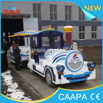 2018 Attractions tourist road train used trackless train for sale
