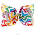 7 Inch Colorful Boutique Rainbow Hair Bows With Clips BH1535-X