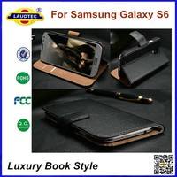 Genuine Wallet Leather Case for Samsung Galaxy S6