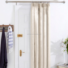 100% polyester new solid fashion style blackout door curtain with 10 colors