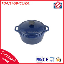 Best selling round enamel coated cast iron cookware