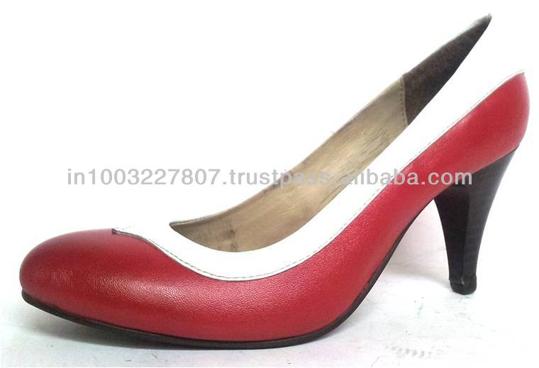 Classy Red And White Evening Dress Shoes