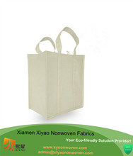 Reusable Reinforced Handle Tote Canvas Shopping Bag