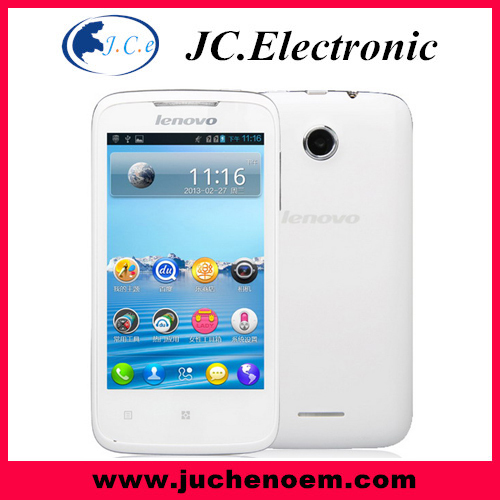 New Arrival Lenovo A376 Dual Core Mobile Phone SC8825 512+4GB 4.0'' Cell phone Android 4.0 Russian Spanish Smart phone