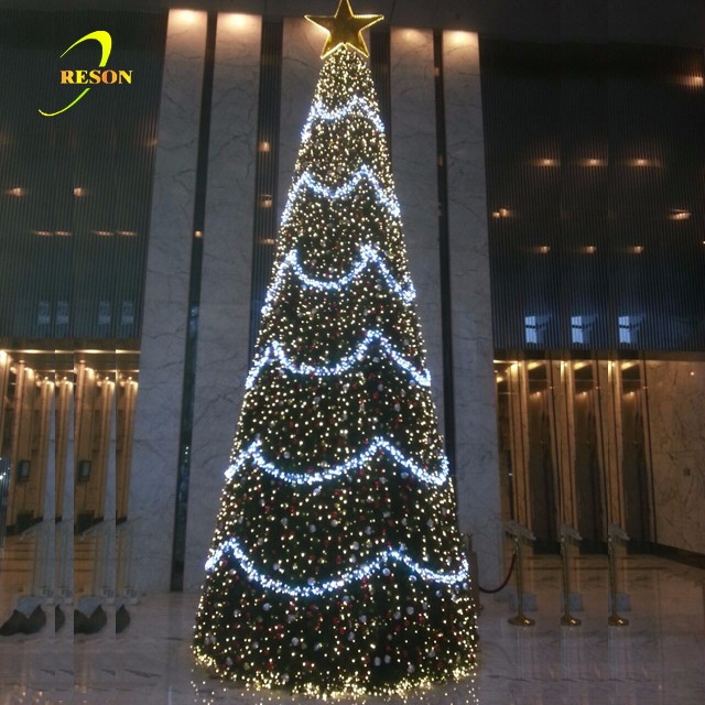 Hotel Christmas Decoration led Lighting Giant Artificial Christmas Tree