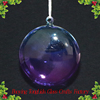 Wholesale Christmas Glass Flat Ball Ornaments