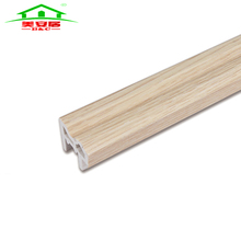 Made in china Natural Oak wooden grain pvc foamed wpc architrave for wardrobe frame Window architrave