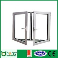 Double Glazed Tempered Glass Aluminum Standard Sizes Casement Window With Blinds