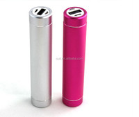 New tube cylinder shape power bank 2600mah universal portable cell phone charger