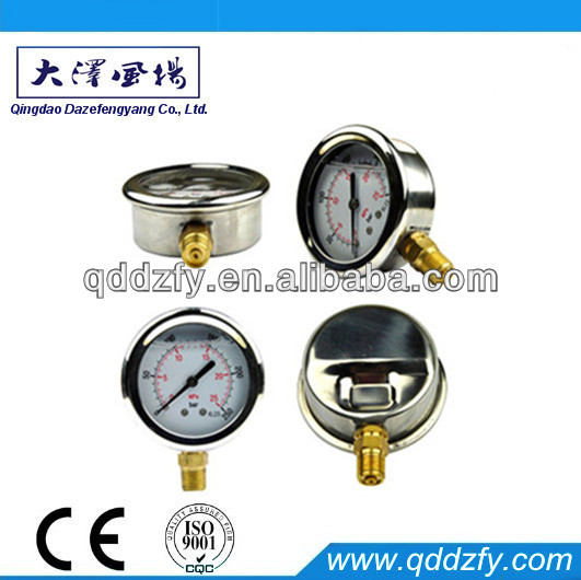 60mm Lower-connection Stainless Steel Screw Type Pressure Gauge