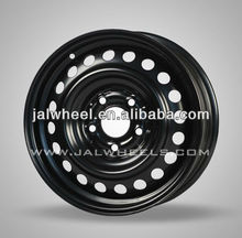 5x114.3 15x6 Black Cheap Customized Steel Wheels