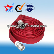 8-20bar Fire hose with PVC/PU/rubber lined new fire hose for sale in sanxing manufacturer