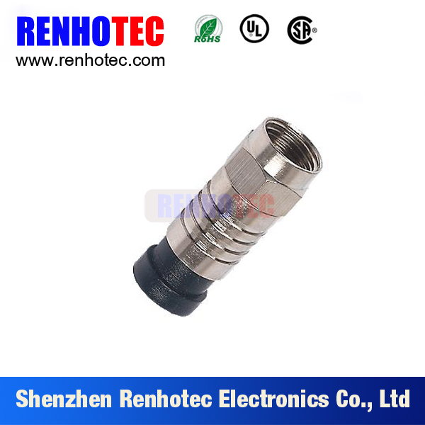 Free sample Waterproof RG59 RG6 RG11 compression F male connector