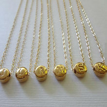 fashion newly design customized stainless steel initial alphabet pendant 24k gold necklace D3-0161