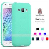 Full Cover Ultra Slim Forsted hard PC Matte Colorful Phone Case Back Cover For Samsung Galaxy J1 2015