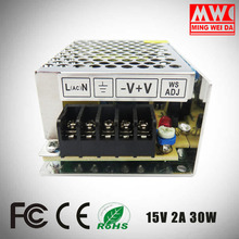 Mean Well 2017 switching power supply 15V 2A 30W S-30-15 With China Factory