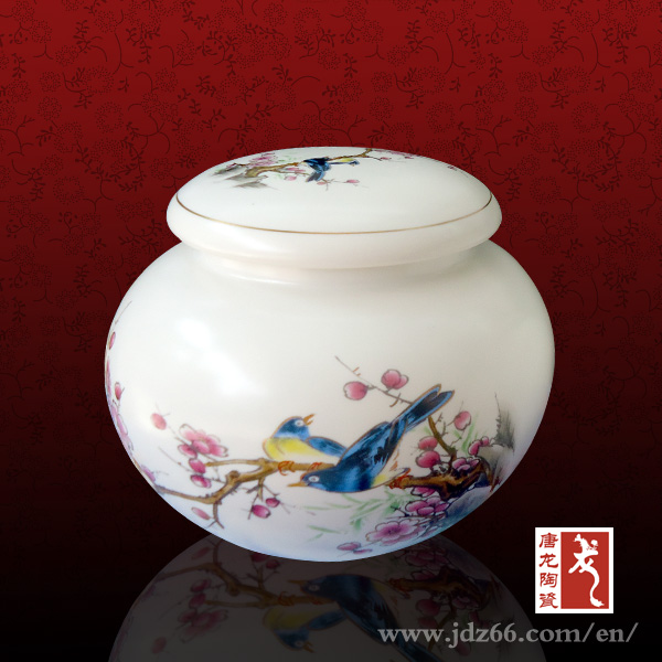 Chinese style arts and crafts ceramic cookie jar