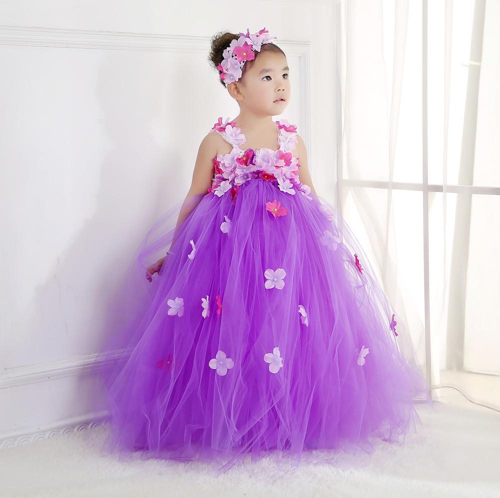 Aurora Princesa Tutu Vestido de Hada De las Flores Precioso Vestido ...