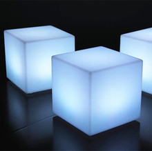 hatil furniture led cube seat lighting outdoor popular design lighting 40cm glow polyethylene led cube from supplier