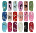 Selling well big hot stamp 3D nail sticker best nail art sticker