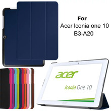 3 FOLDING SMART STAND COVER PU LEATHER CASE FOR Acer Iconia one 10 B3-A20
