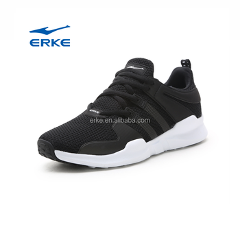 2017 fashion lightweight lace up black school gym walking ERKE brand wholesale running shoes womens