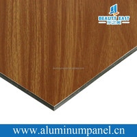 1100 PE coated waterproof acp aluminum composite panel with wooden grain on one sides