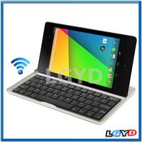 High Quality Bluetooth 3.0 Aluminum Keyboard Protective Case for Google Nexus 7 (2013 Version), Black