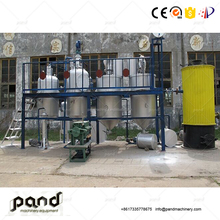 Cooking oil refinery line crude for sale coconut refining machine