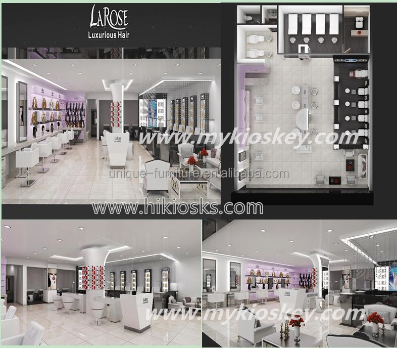 high end beauty salon store interior design , barber shop furniture with hair dressing stand for sale