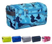 Nylon Multifunctional wholesale camouflage Travel hanging toiletry cosmetic zipper bag