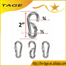T316 Eyelet Carbine Stainless Steel Snap Link Hook