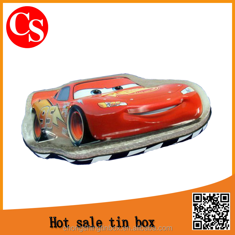 Christmas car shape packaging tin box/metal tin box
