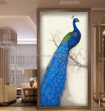 Big Size blue peacock handmade 5d rhinestone diy crystal diamond painting canvas cross stitch embroidery kit by numbers