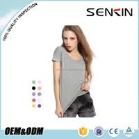 Samll Order China Factory Blank Plain Slim Fit T shirt for Women Custom Modal Soft T shirt OEM
