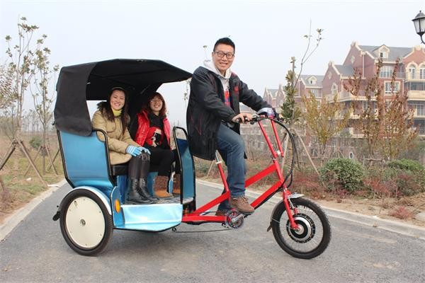 passenger pedal tricycle/pedicab rickshaw for sale