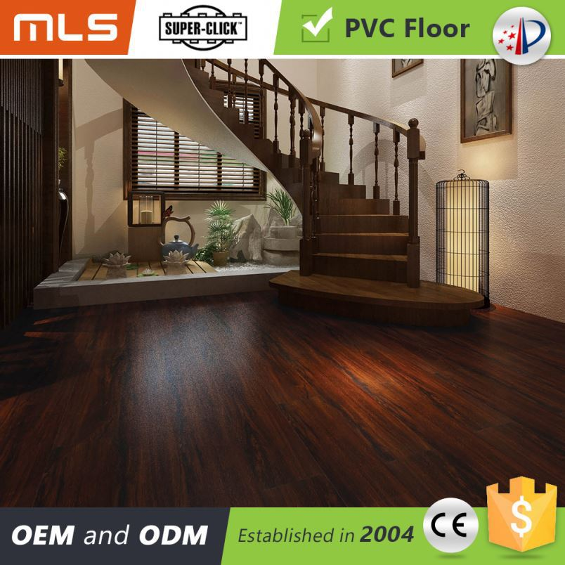 Low Cost Wood Like Click Pvc Oak High Gloss Tranquility Vinyl Tile Flooring